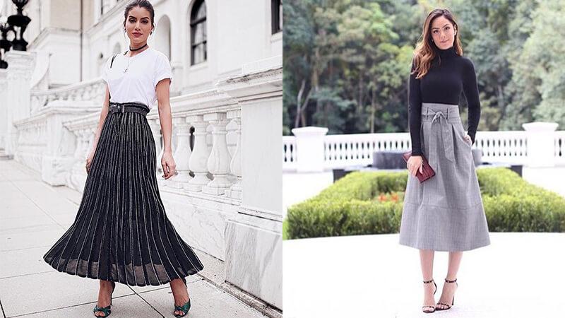Model baju kerja wanita - Rok lebar