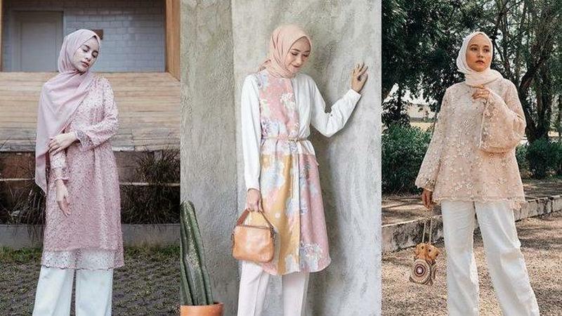 Style Kondangan Hijab Dengan Celana Kulot Terkini